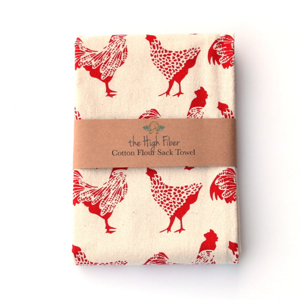 Flour Sack Towel - Chicken