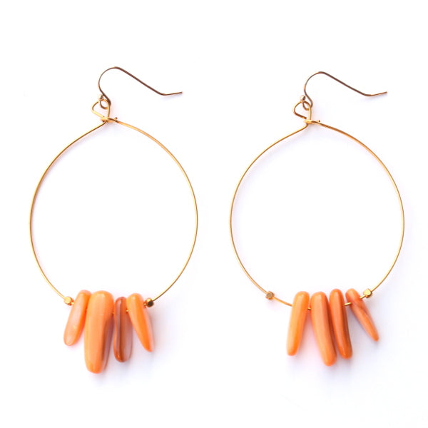 Color Me Happy Earrings - Orange
