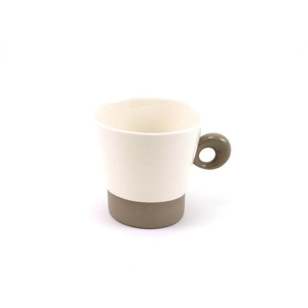Demi Mug - White/Chocolate