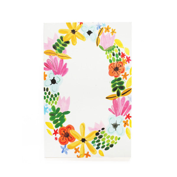 Floral Wreath Notepad