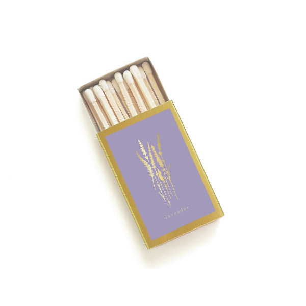 Gold Lavender Matchbox