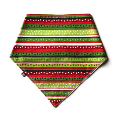 The Grinch/Holiday Stripes Reversible Bandana - Small