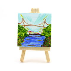 Liberty Bridge Day Mini Canvas and Easel