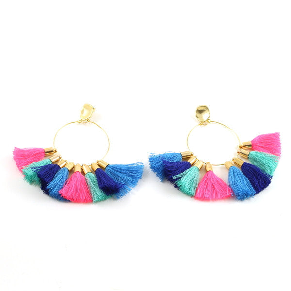 Multi Tassel Earring - Gold