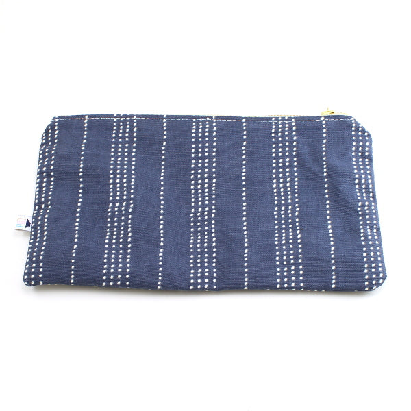 Navy Stripe Makeup Bag