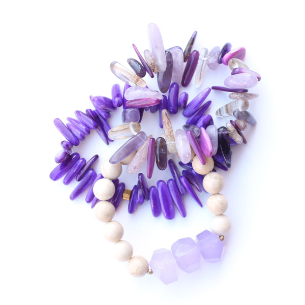 Purple Stack Bracelets
