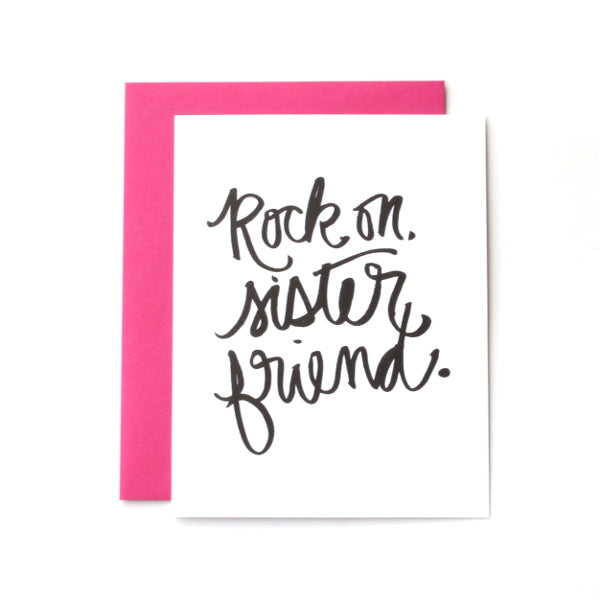 Rock On, Sister Friend Cards