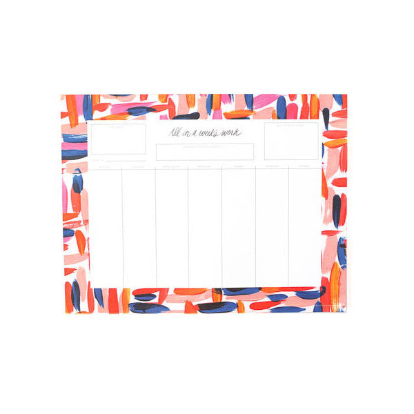 All in a Week's Work Weekly Calendar Notepad
