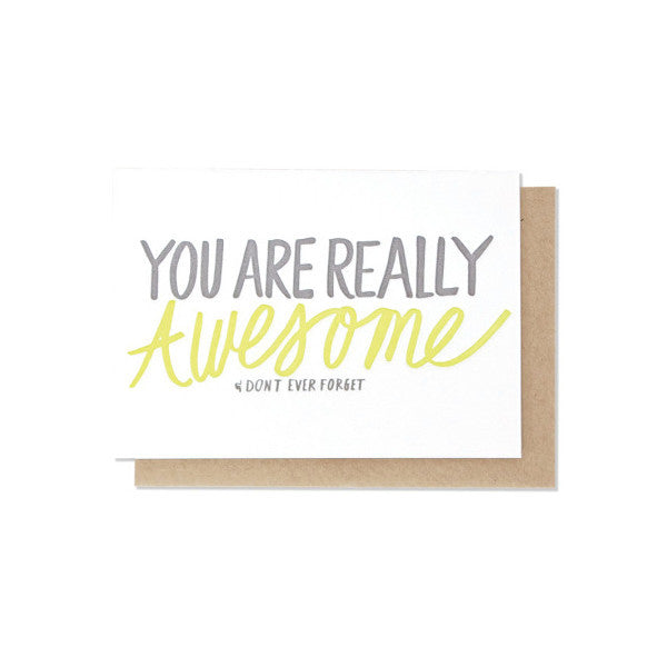 You Are Really Awesome Letterpress Card
