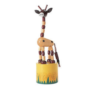 The Original Toys - Wooden Toys / Thumb Puppet Assortment - Giraffe