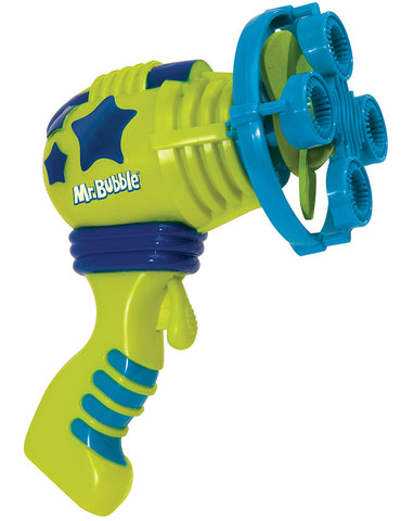 Kid Galaxy - Mr. Bubbles / Handheld Bubble Spinner - Bubble Gun