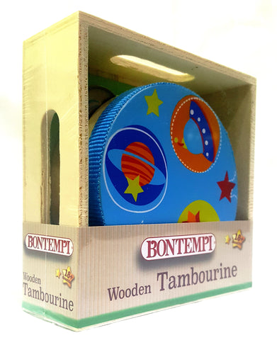 The Original Toys - Wooden Instruments Toys / The Little Tambourine - Blue