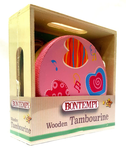 The Original Toys - Wooden Instruments Toys / The Little Tambourine - Pink