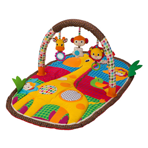 Infantino -  Gym & Play Mat - Take & Play Safari Activity