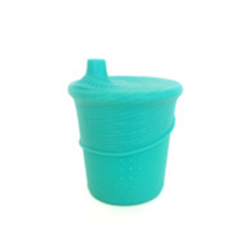 Silikids - Baby Feeding - Set Of Sippy Cup & Top (Sea)