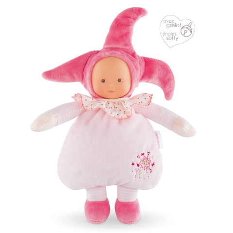 Corolle - Teddies & Dolls / Baby Doll - Elf Pink Cotton Flower