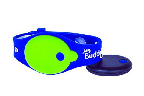 My Buddy Tag - Children's Accessories - Blue Dark / Green Silicone (+ Buddy Tag)
