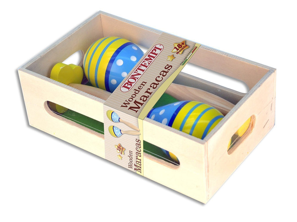 The Original Toys - Wooden Instruments Toys / Maracas - Blue