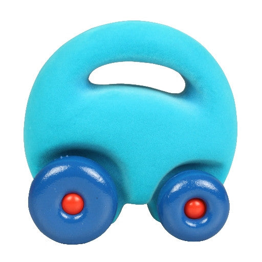 Rubbabu - Developmental Toys / Natural Rubber Foam - The Mascot Car Grab'em Turquoise