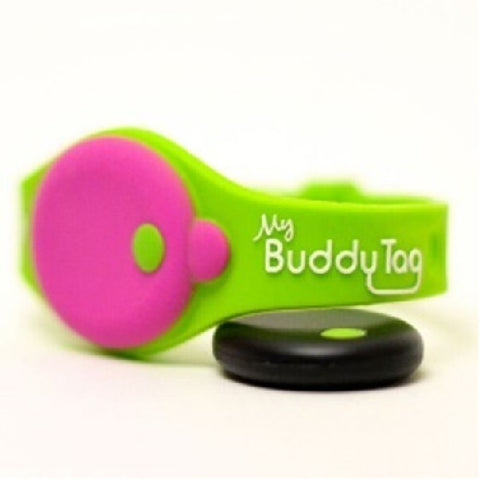 My Buddy Tag - Children's Accessories - Green / Pink Silicone (+ Buddy Tag)