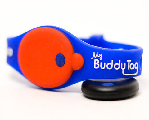 My Buddy Tag - Children's Accessories - Tag Blue / Red Silicone (+ Buddy Tag)
