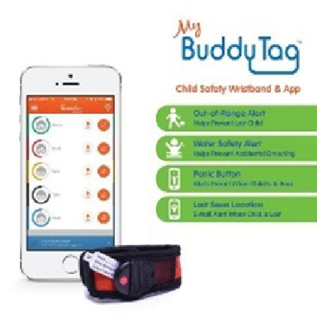My Buddy Tag - Children's Accessories - Red Velcro (+ Buddy Tag)