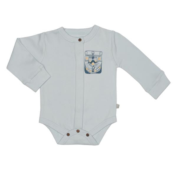 Finn Emma Long Sleeve Bodysuit - Ice Flow Blue