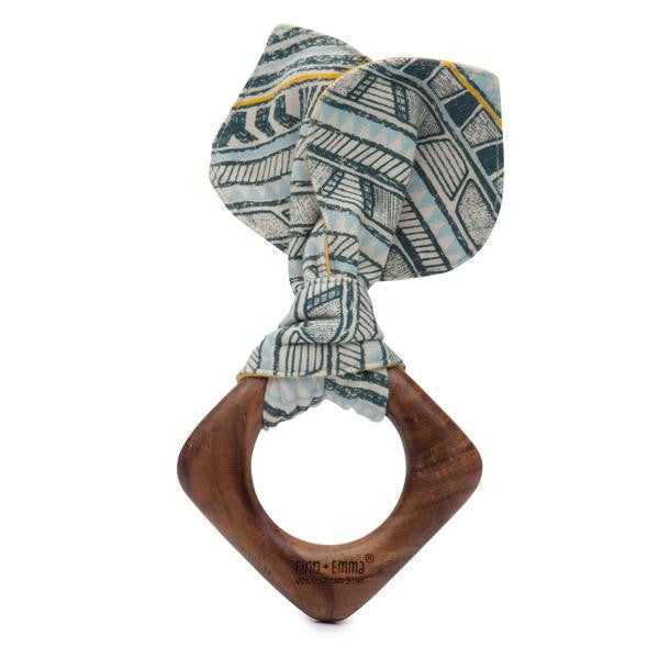 Finn Emma - Teething Ears - Tribal Stripe Print/Golden