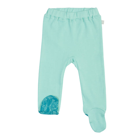 Finn Emma - Footed Pants - Pool Blue