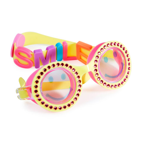 Bling2o - Swimming Goggles / Be Happy  - Sunshine Yellow Round Shape