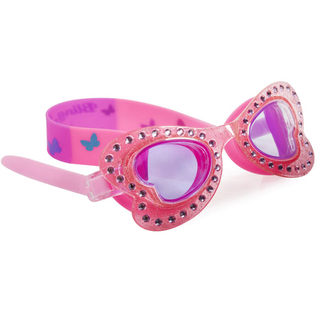 Bling2o - Swimming Goggles / Butterfly Swim Goggles - Painted Lady Pink