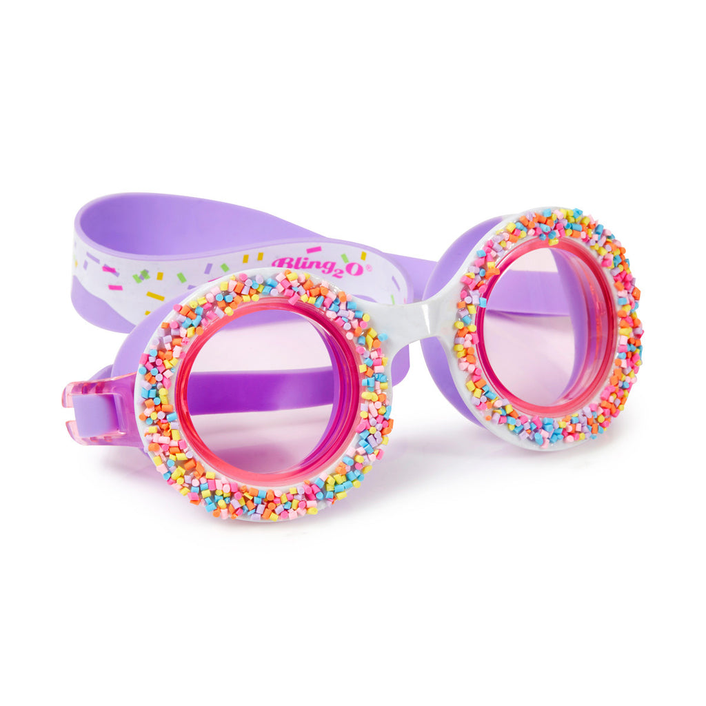 Bling2o - Swimming Goggles / Do 'Nuts' 4 U Kids Swim Goggles - Grape Jelly