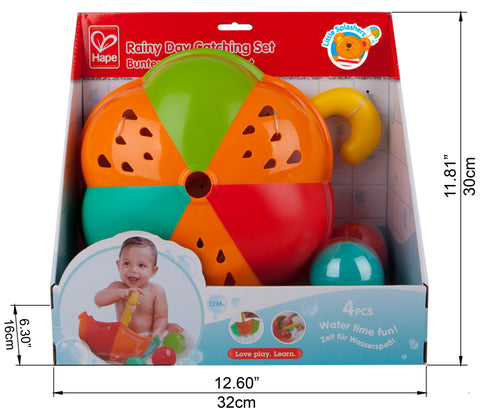 Hape - Set Bath Toy - Rainy Day Catching Set