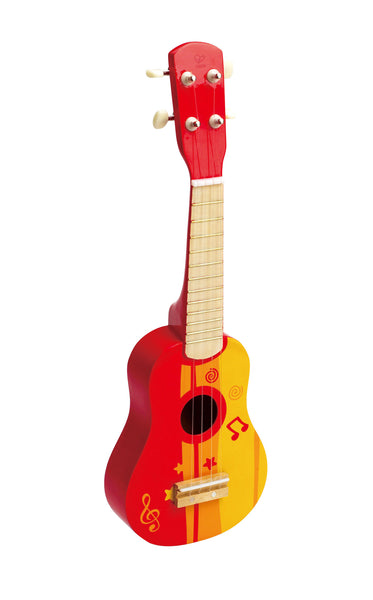 Hape - Wooden Toy - Ukelele in Red
