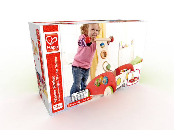 Hape - Wonder Toy - Walker Push and Pull Toddler Walking Toy