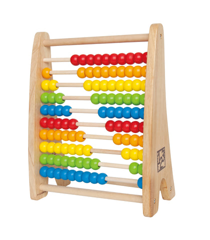 Hape - Wooden Counting - Rainbow Bead Abacus