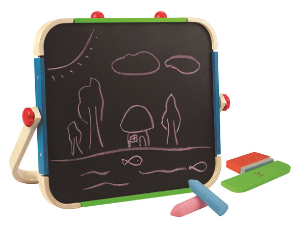 Hape - Wooden Toy - Anywhere Table Top Kid's Portable Art Easel Set