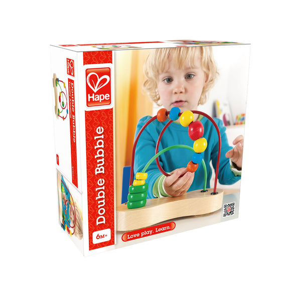 Hape - Wooden Toy - Double Bubble Toddler Bead Maze