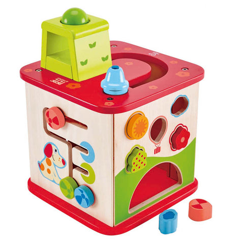 Hape - Activity Cube - Pepe & Friends Wooden Activity Cube and Center