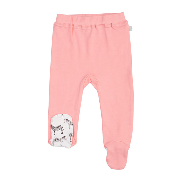 Finn Emma - Footed Pants - Salmon Rose