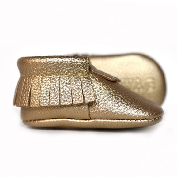 Sweet N Swag - Babies Shoes / Moccasins - Golden Rule / Gold Baby
