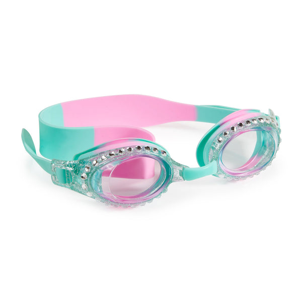 Bling2o - Swimming Goggles / New Glitter Classic Kids Swim - Pink Puff Blue
