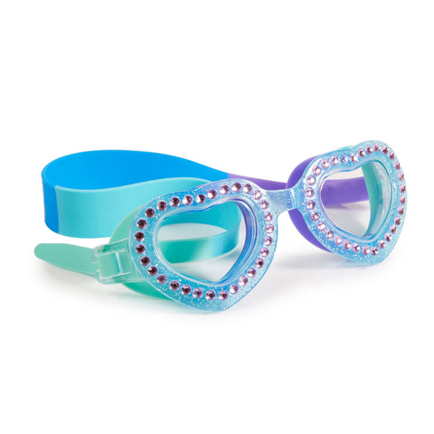 Bling2o - Swimming Goggles /  Je T'Aime Heart Shaped - Mint Blue