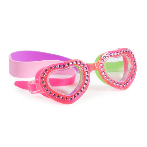 Bling2o - Swimming Goggles /  Je T'Aime Heart Shaped - Punch Pink
