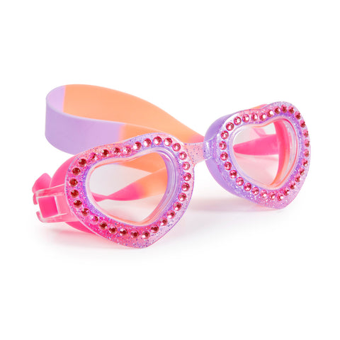 Bling2o - Swimming Goggles /  Je T'Aime Heart Shaped - Lavander Mist