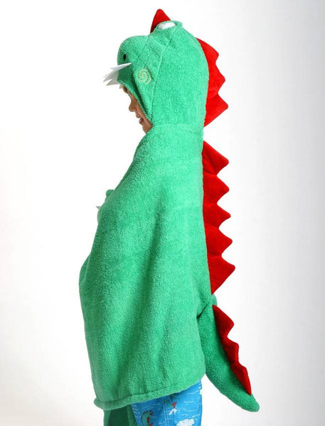 Zoocchini - Boys Accessories / Towel - Devin The Dinosaur Hooded Towel