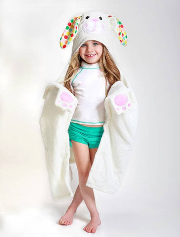 Zoocchini - Girls Accessories / Towel - Bella The Bunny Hooded Towel