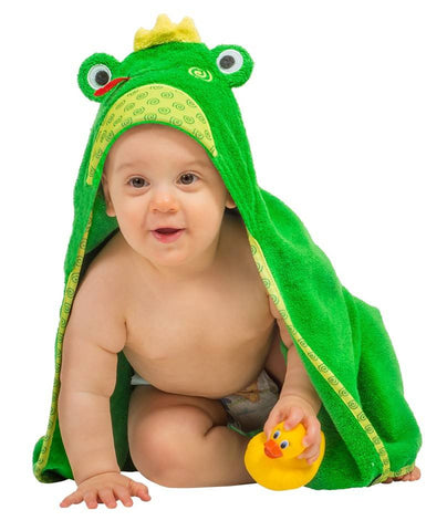Zoocchini - Boys Accessories / Towel -  Flippy The Frog Hooded Towel