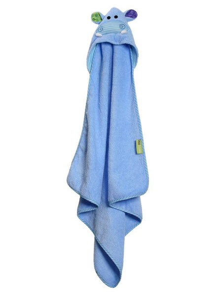 Zoocchini - Boys Accessories / Towel - Henry The Hippo Hooded Towel