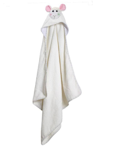 Zoocchini - Baby Accessories / Towel - Lola The Lamb Hooded Towel